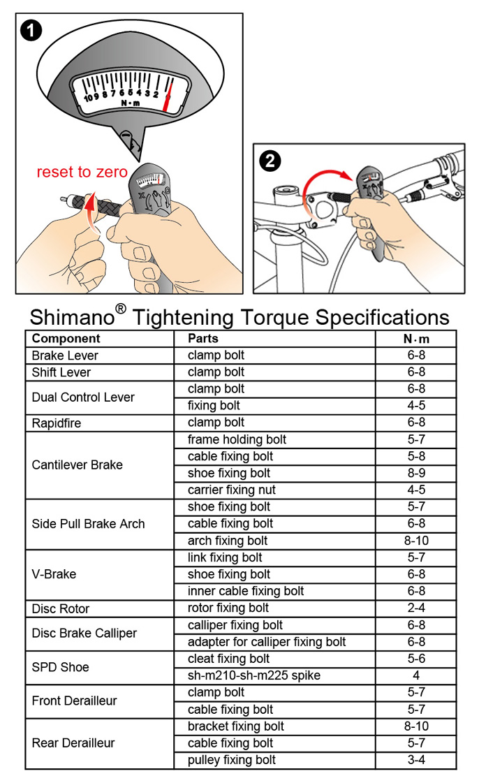 IceToolz E219 Torque Specifications